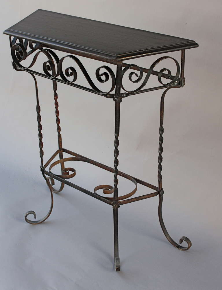 1920s wrought iron side table at 1stdibs