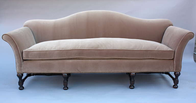 1920s Elegant Spanish Revival Sofa At 1stdibs