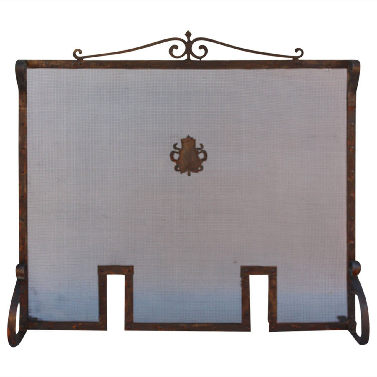 Antique 1920s Wrought Iron Fire Screen At 1stdibs