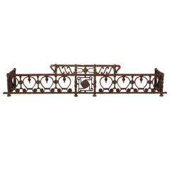 Exceptional Wrought Iron Fender