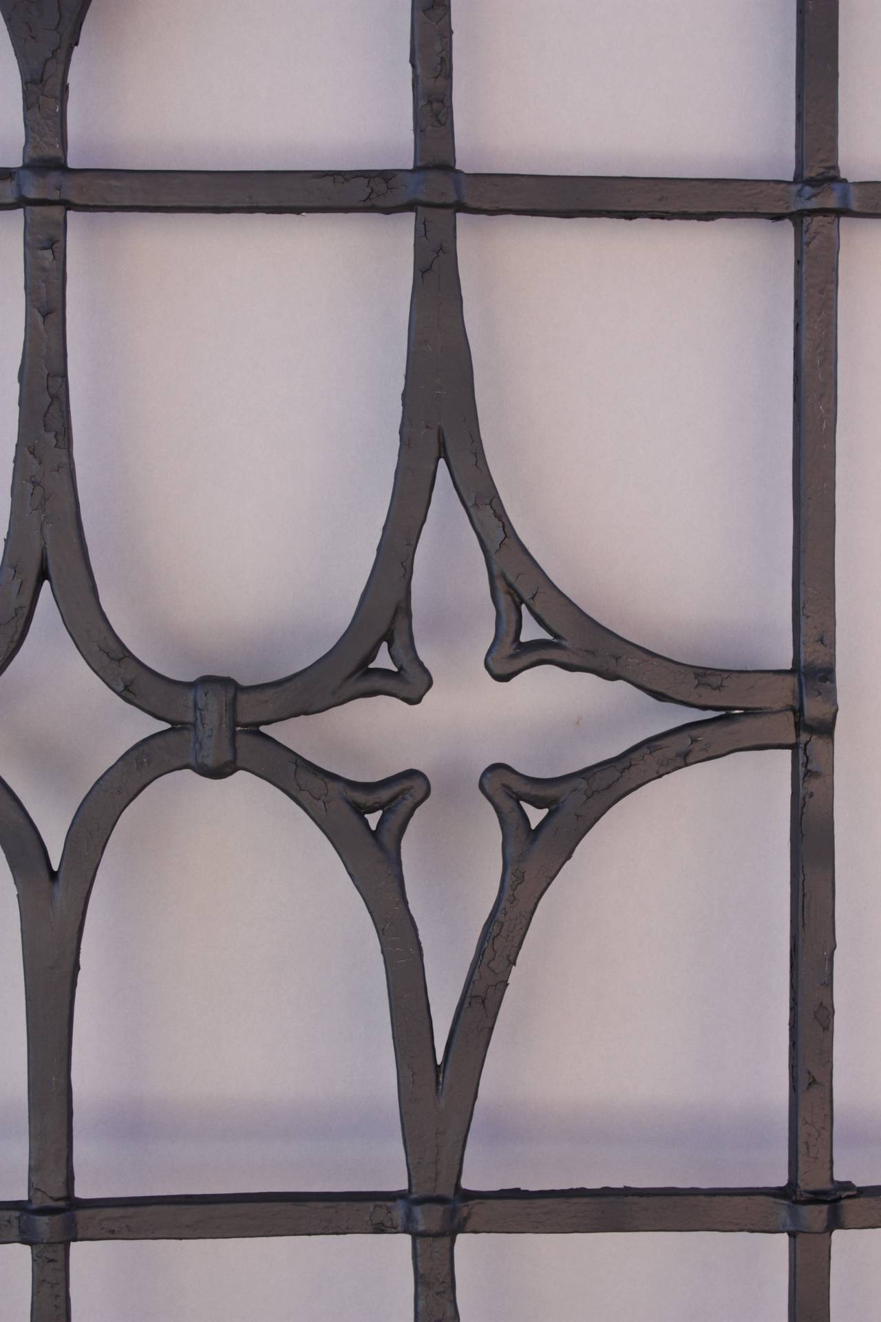 Spanish Colonial One of Two Iron Grills Salvaged from Brentwood House