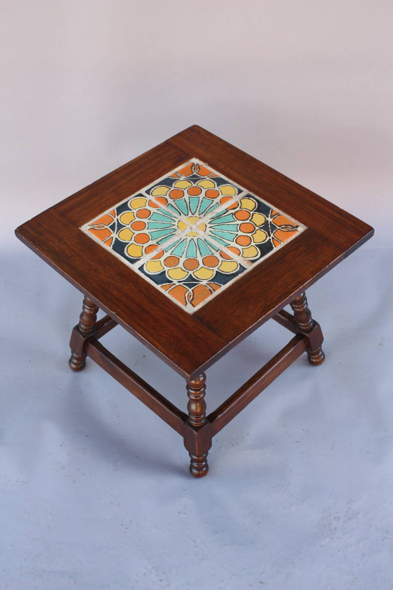 Antique California Tile Table Made by Hispano Moresque at 1stdibs