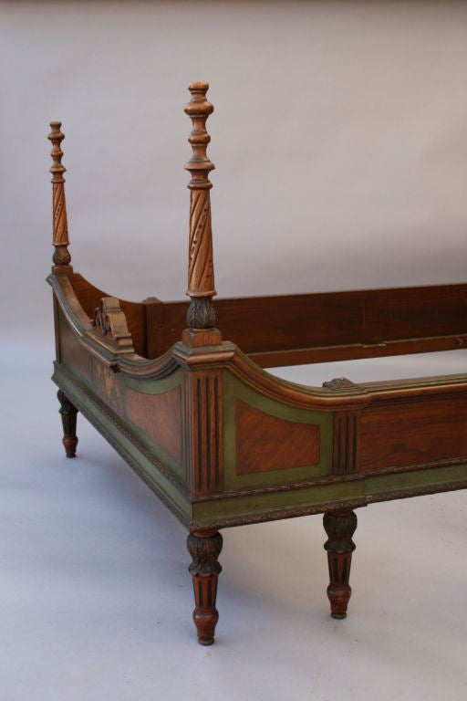 Pair matching twin bed frames at 1stdibs for American furniture bed frames