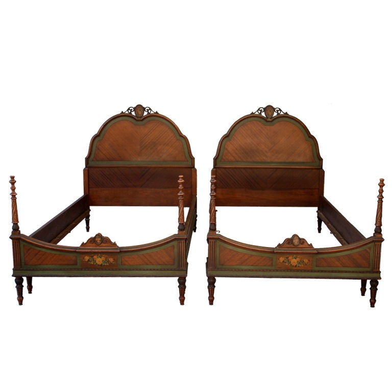 Pair matching twin bed frames at 1stdibs American home furniture bed frames