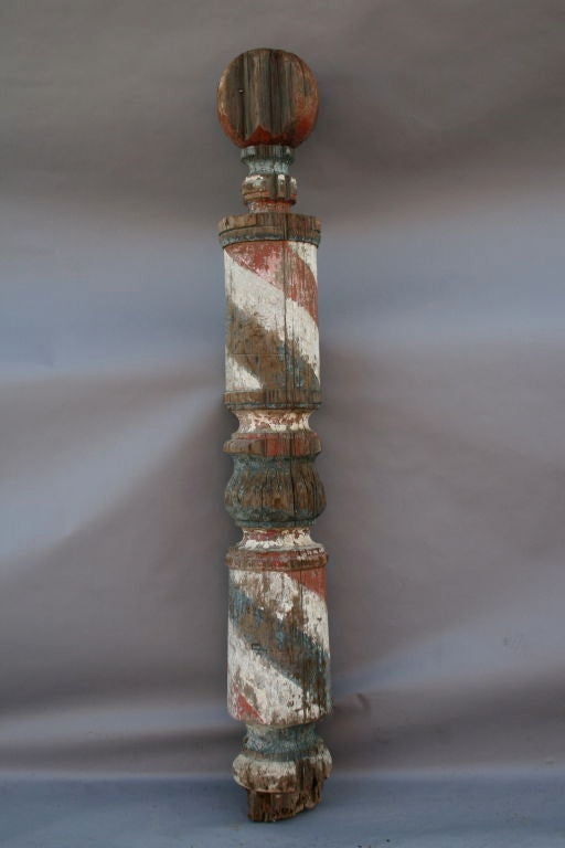 Incredible Barber Pole Sign C Late 1800 S At 1stdibs