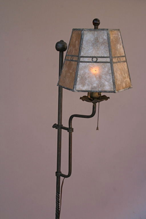 1920 S 1930 S Floor Lamp With Original Mica Shade At 1stdibs