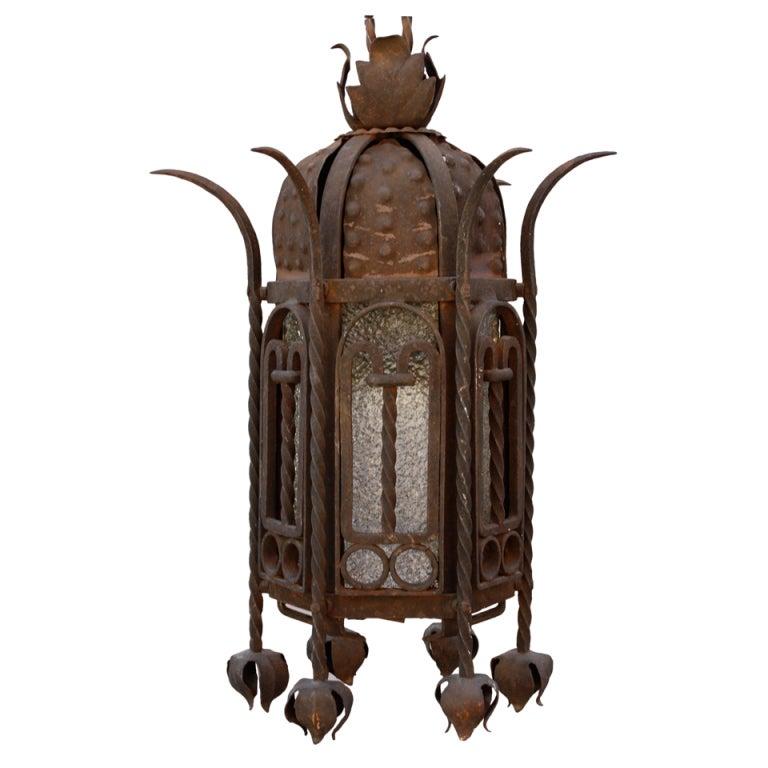 Antique Wrought Iron Lantern At 1stdibs
