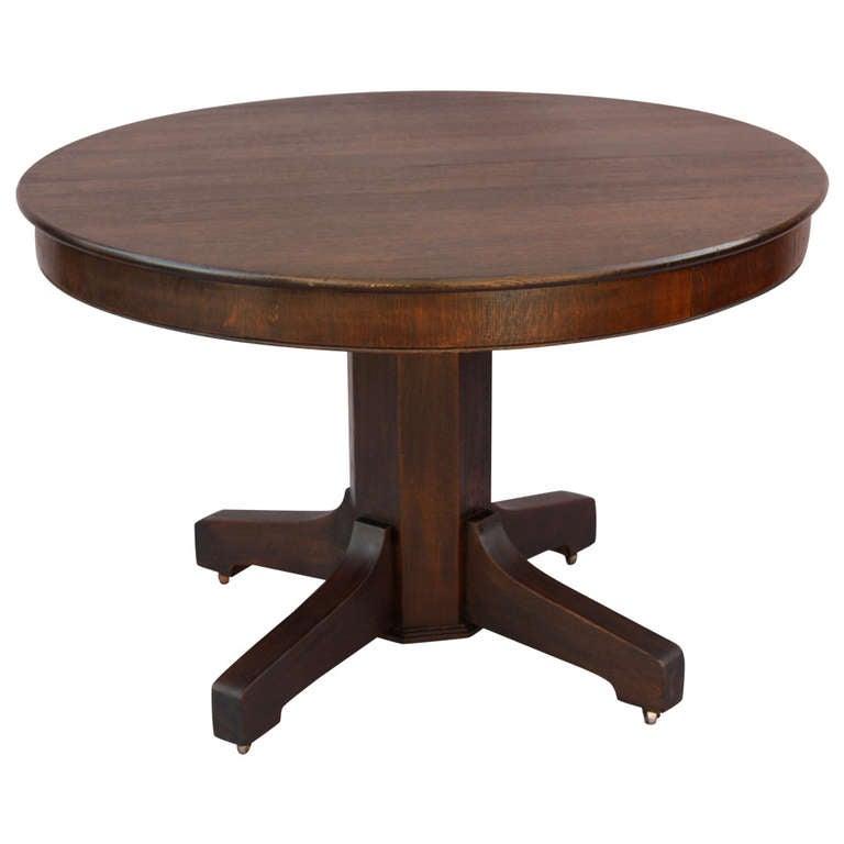 Circa 1910 Oak Dining Room Table at 1stdibs : 1076108l from 1stdibs.com size 768 x 768 jpeg 27kB