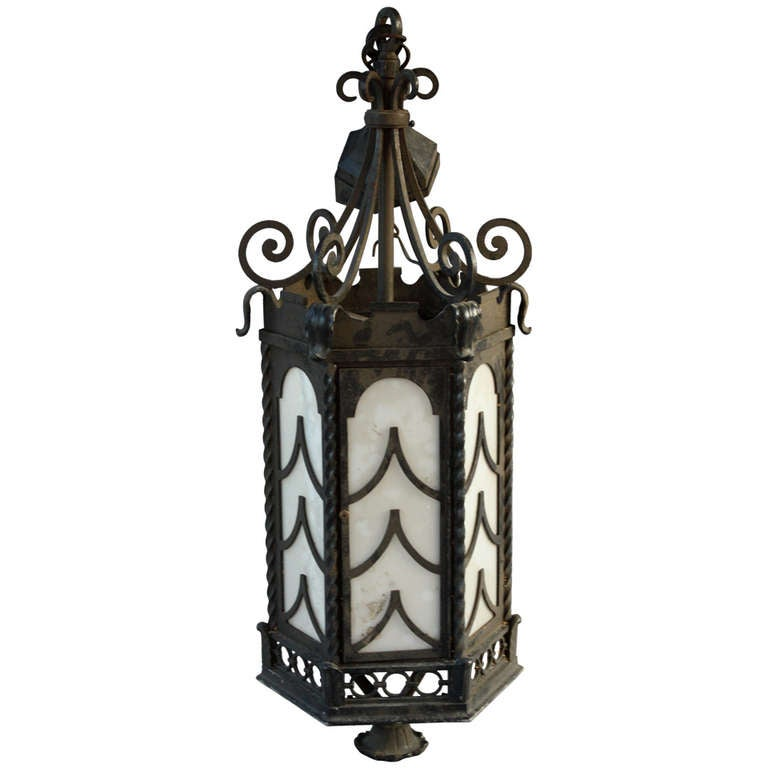 1920s Remarkable Large Iron Pendant For Sale At 1stdibs