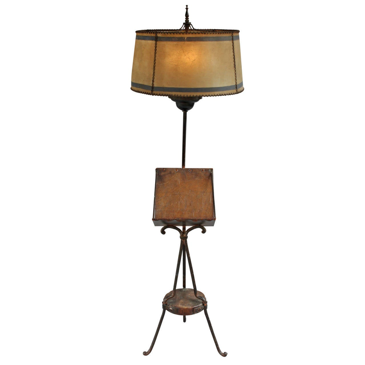 hard to find monterey style floor lamp with original shade at 1stdibs. Black Bedroom Furniture Sets. Home Design Ideas