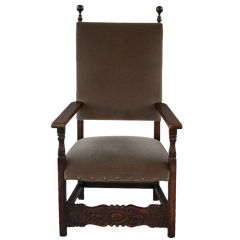 Large Scale Spanish Revival Throne Chair, C. 1920's
