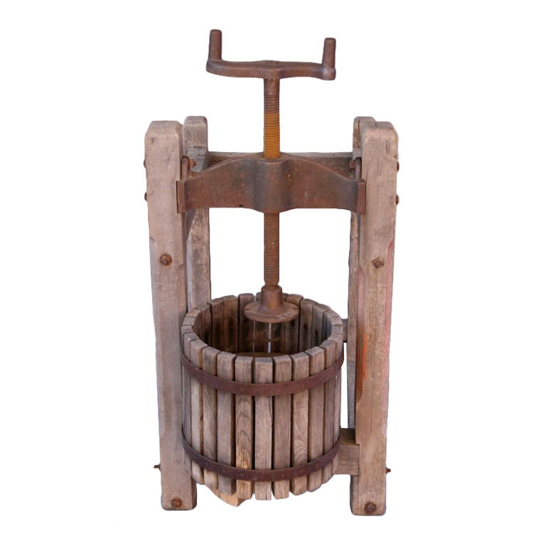 Antique Wooden Grape/Wine Press