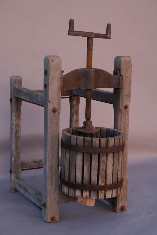 Antique Wooden Grape Wine Press At 1stdibs