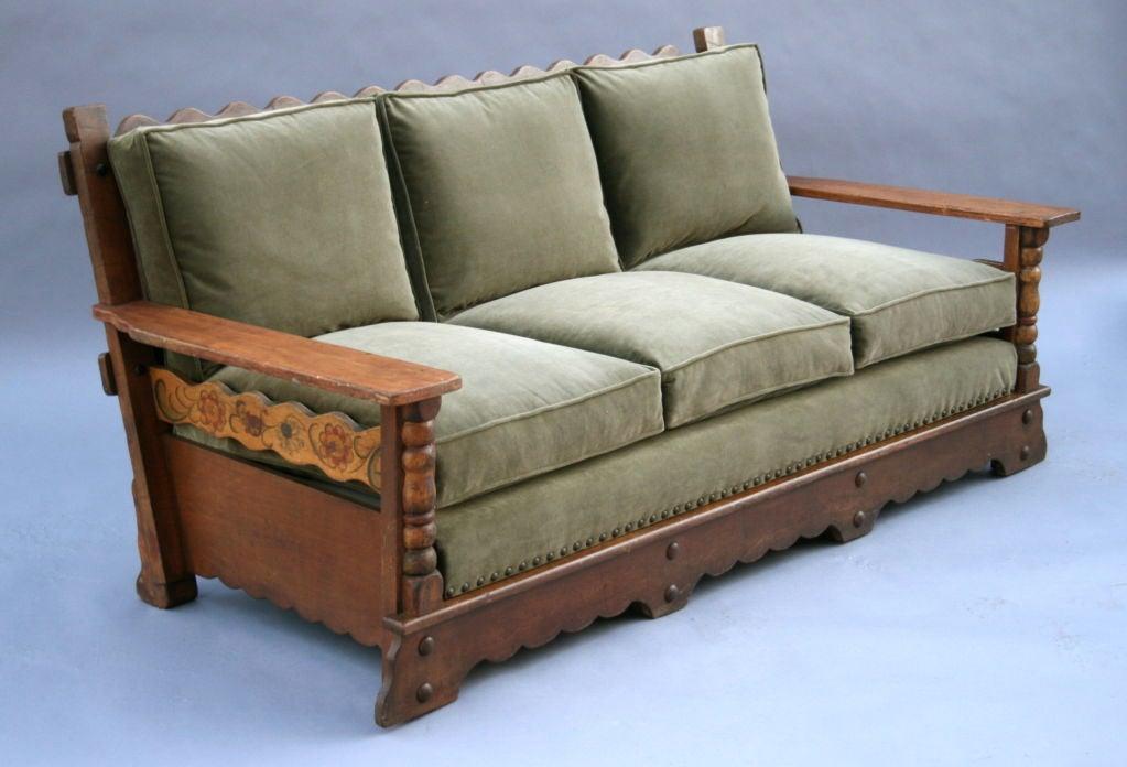 signed monterey sofa rare form at 1stdibs. Black Bedroom Furniture Sets. Home Design Ideas