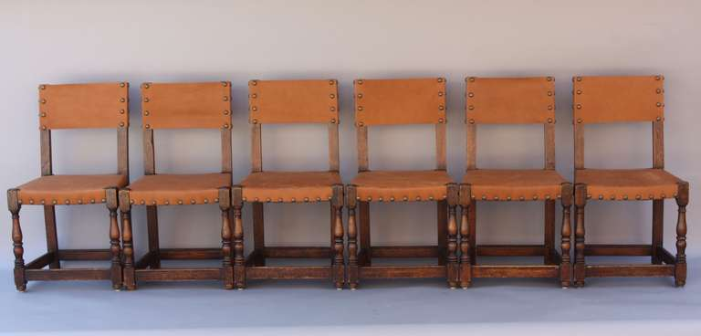 Set of Six Signed Marshall Laird Chairs 1920 s at 1stdibs
