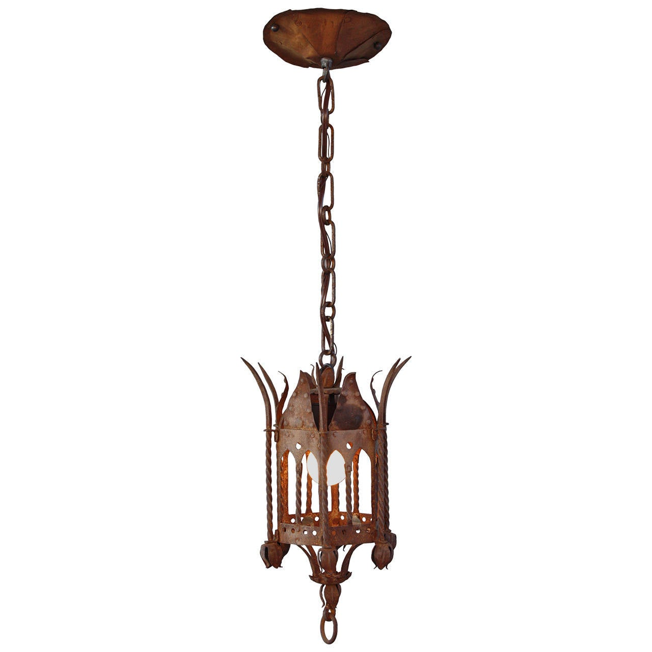 Spanish revival small pendant at 1stdibs for Spanish revival lighting fixtures