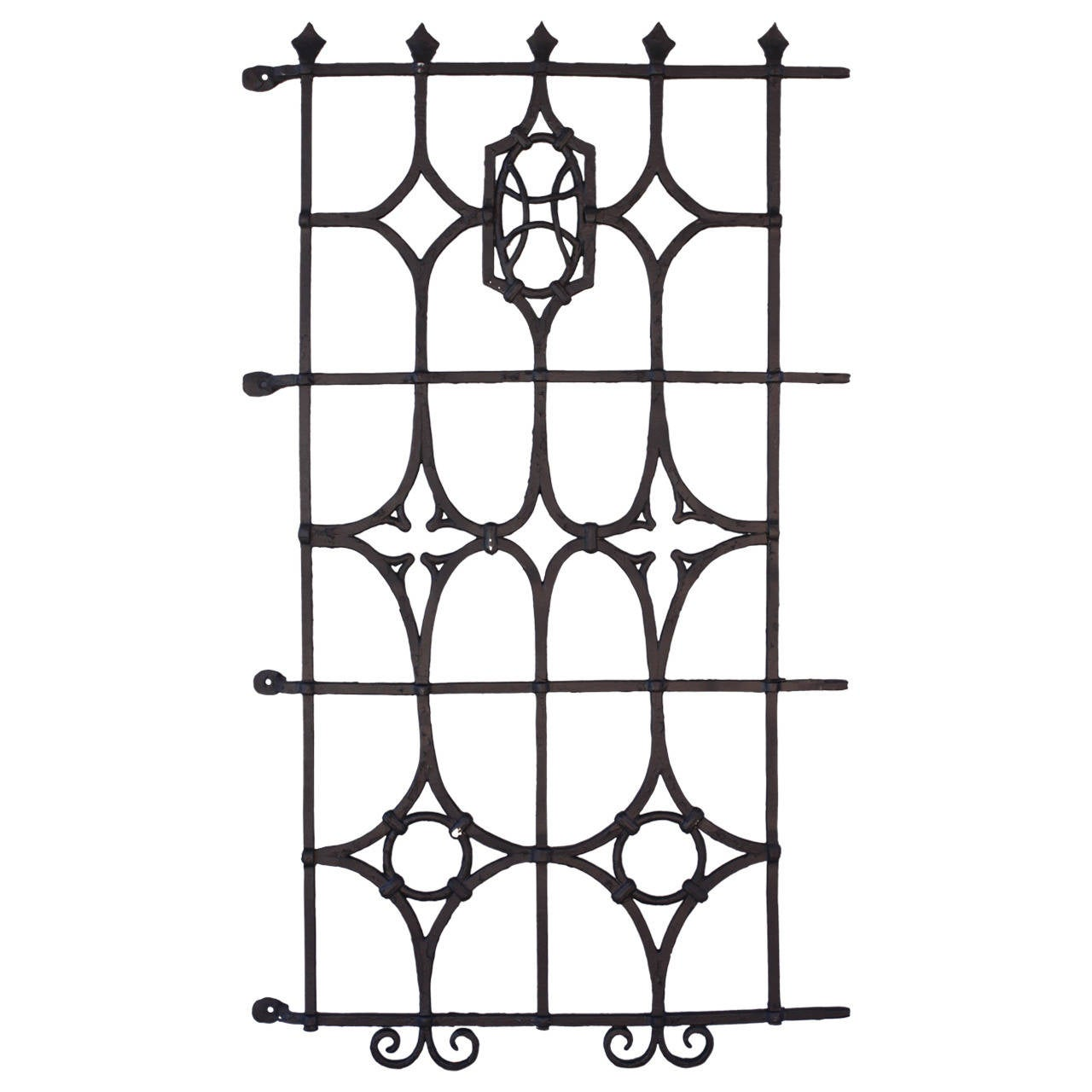 One of Two Iron Grills Salvaged from Brentwood House