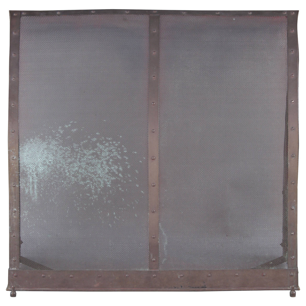 Free standing fireplace screen at 1stdibs for Free standing screen
