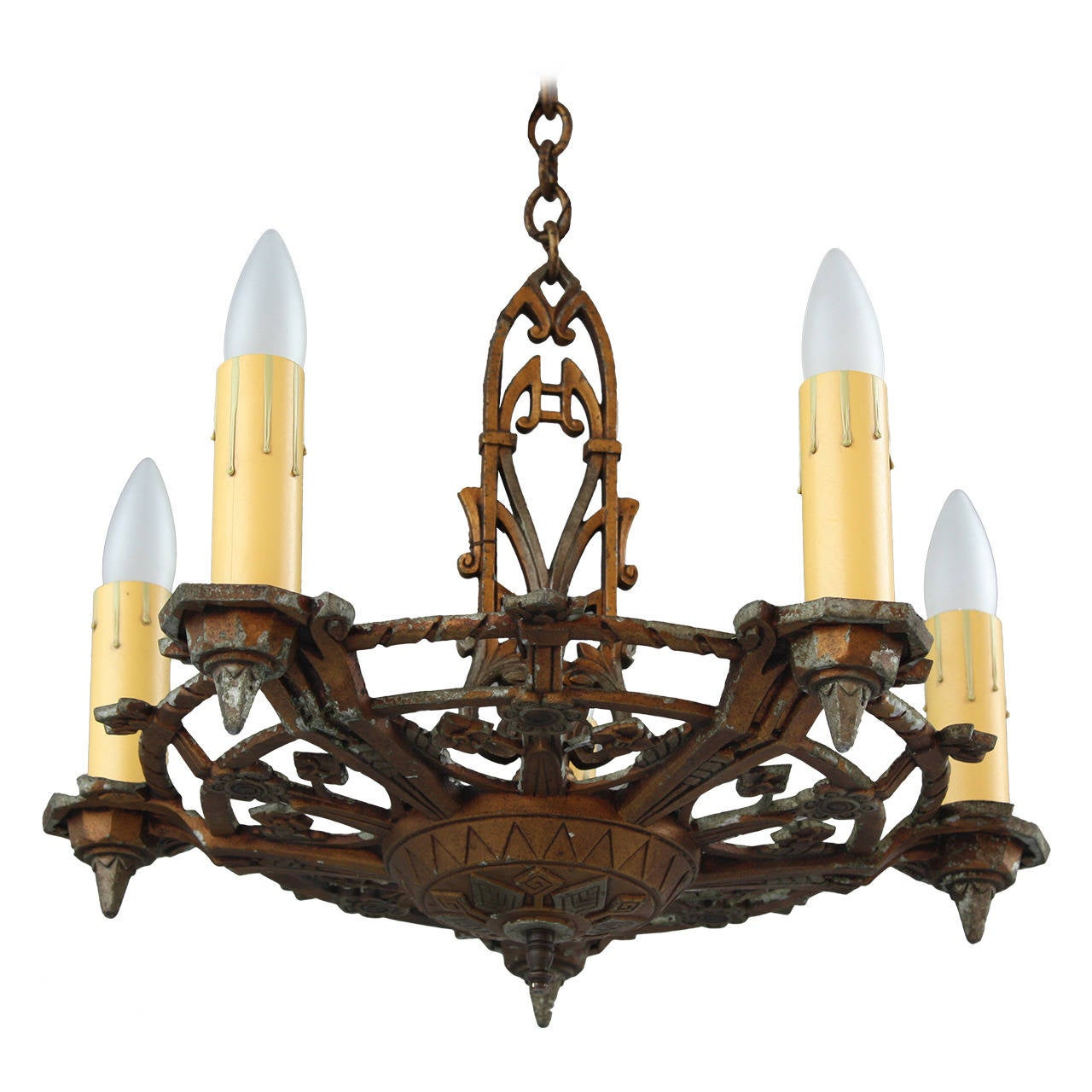 1920s Two-Toned Chandelier