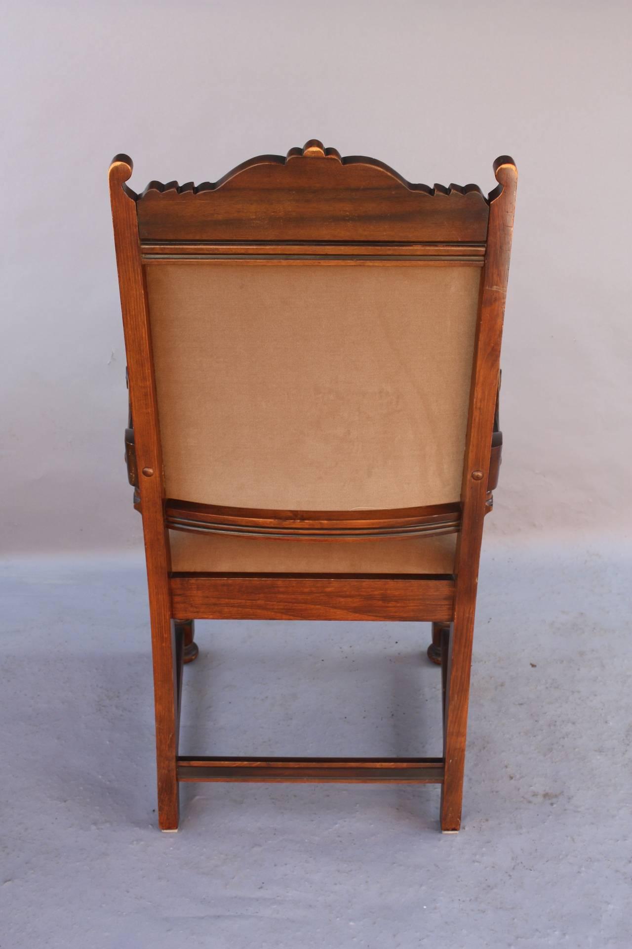 Spanish Revival Armchair at 1stdibs