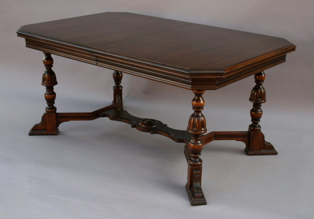 Expandable Mahogany Dining Room Table At 1stdibs