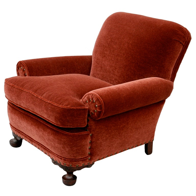 Lovely 1920 S Mohair Arm Chair At 1stdibs