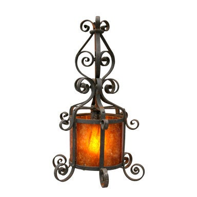 Iron and Mica Pendant Lantern, c. 1920's-1930's