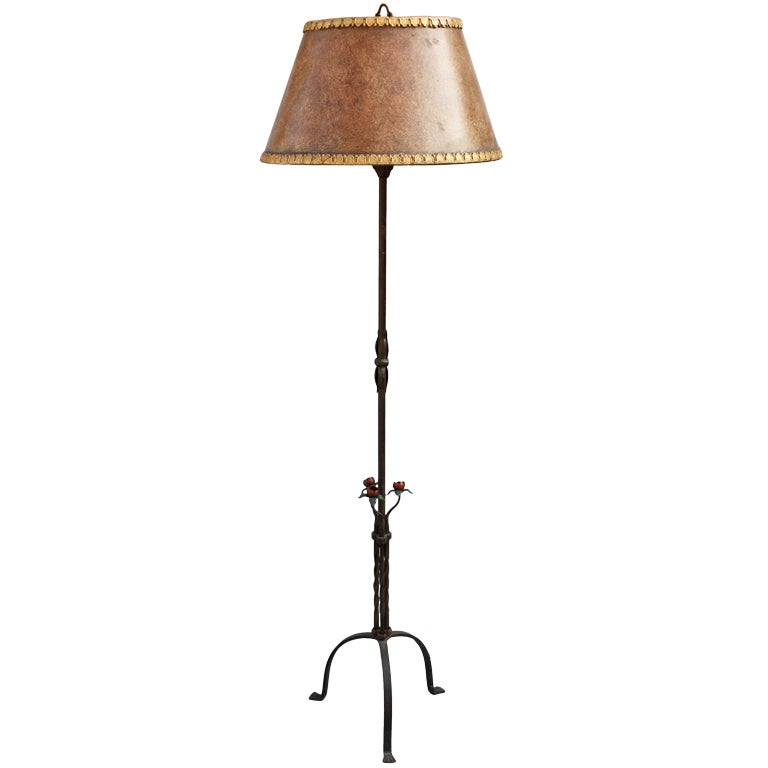 gorgeous 1920 39 s floor lamp w original shade at 1stdibs