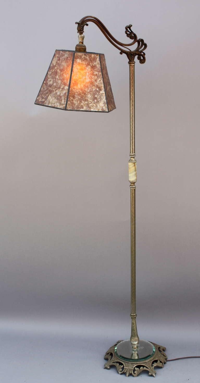 1920 39 s brass bridge lamp image 2 for 1920s floor lamps