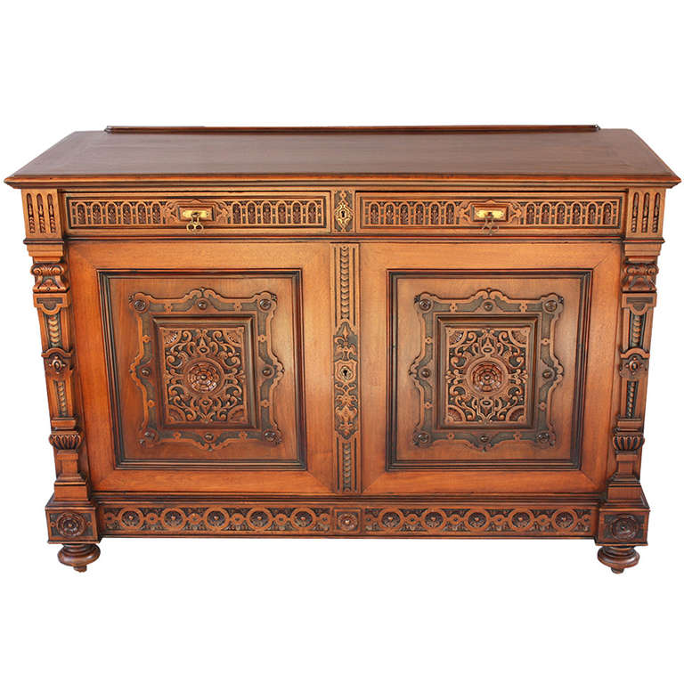 1920 s Spanish Revival Carved Sideboard at 1stdibs