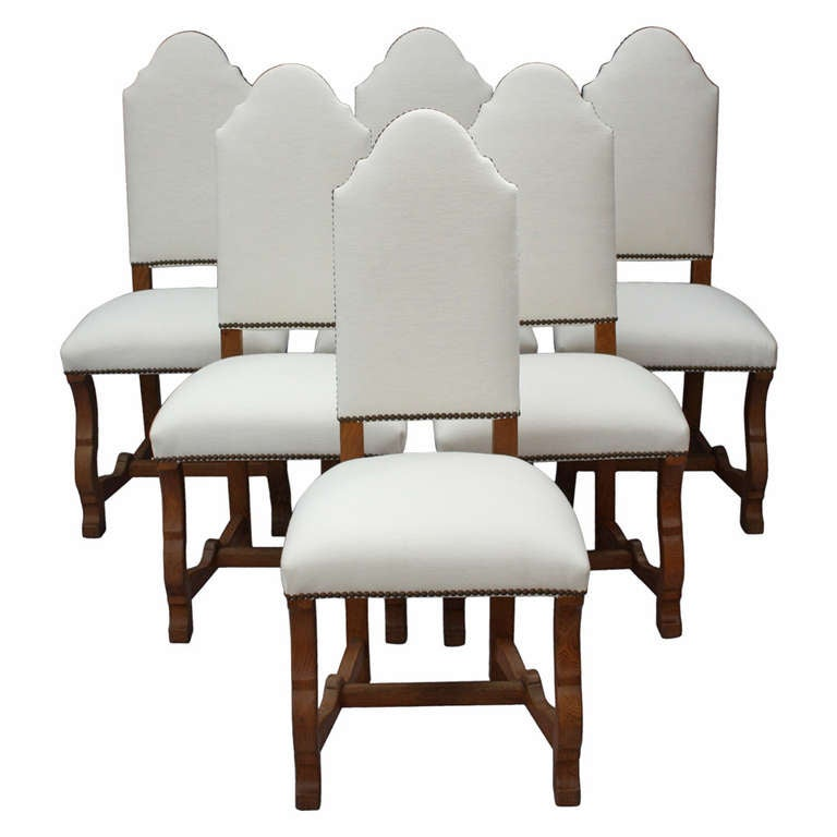 1920s Set Six Spanish Revival Side Chairs at 1stdibs