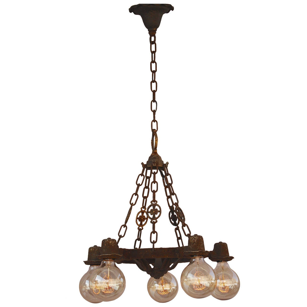 Items Similar To Lighting Rustic Chandelier Vintage 1920 S: 1920s Downlight Chandelier At 1stdibs