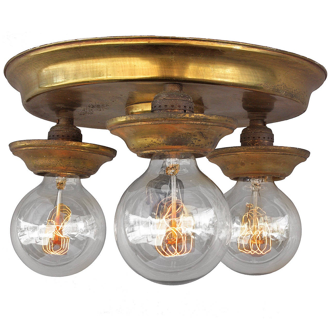 this 3 light 1920 39 s flush mount ceiling light fixture is no longer