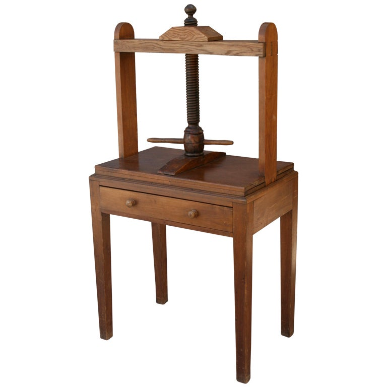 19th Century Wooden Bookbinding Press At 1stdibs