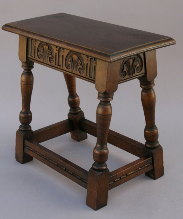Small Oak Tabouret Table Bench At 1stdibs