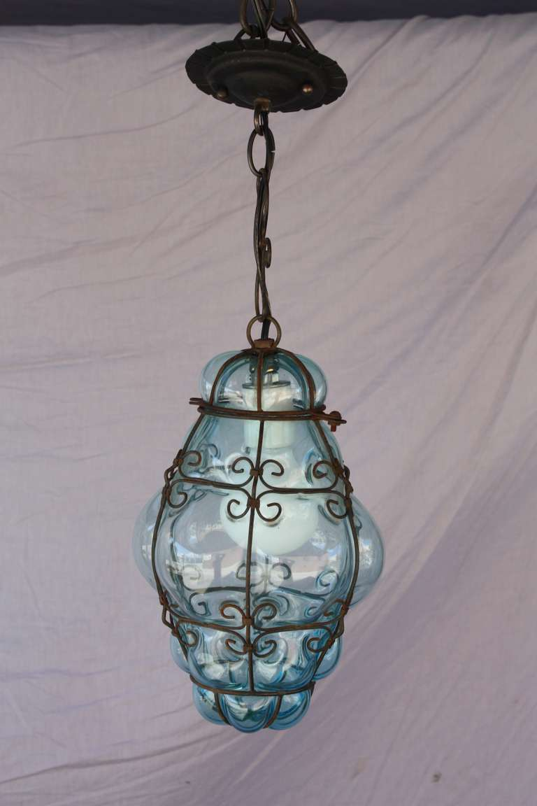 20th century venetian glass pendant at 1stdibs. Black Bedroom Furniture Sets. Home Design Ideas
