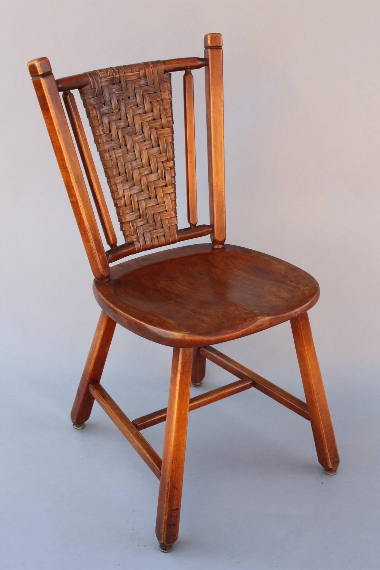 Circa 1910 Old Hickory chair. Signed. 18.5