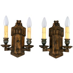 Pair of Double Sconces