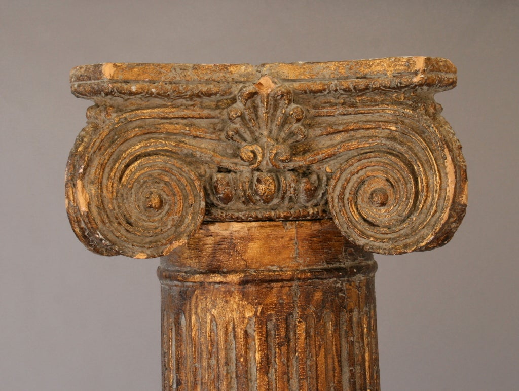 20th Century Turn-of-the-century Gilded Italian Column For Sale