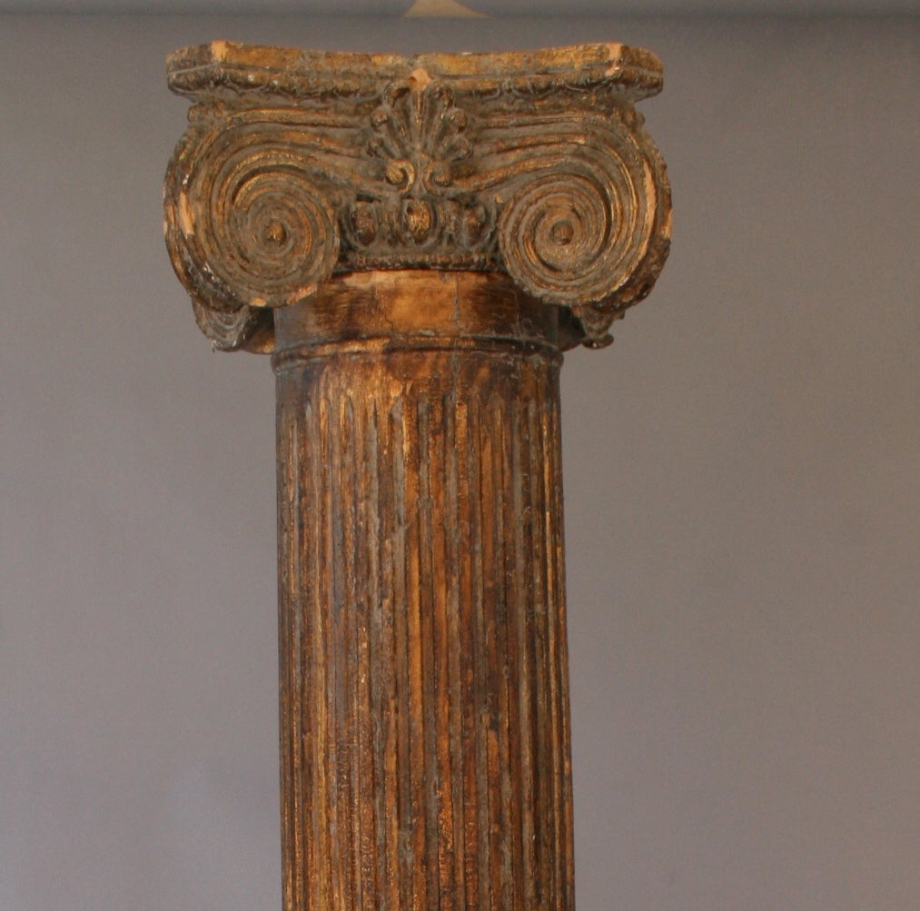 Turn-of-the-century Gilded Italian Column For Sale 1