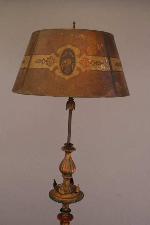 1920 S Floor Lamp W Metal Mesh Shade At 1stdibs