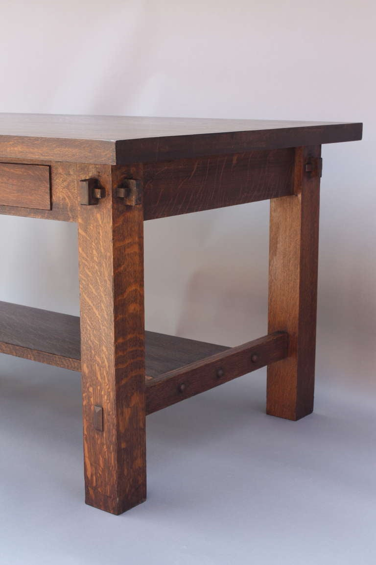 American Antique 1910 Arts And Crafts Desk For