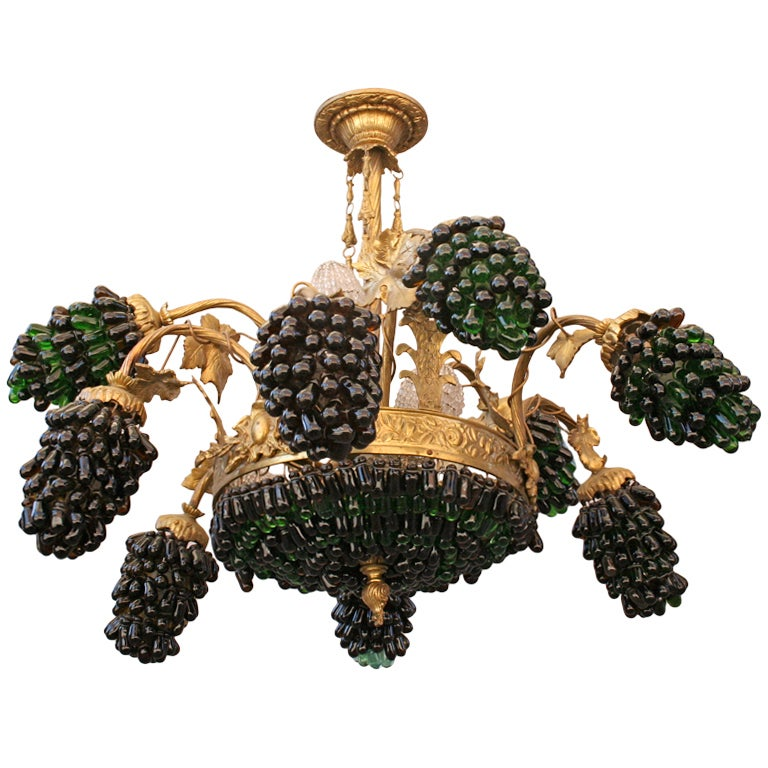 Fabulous Murano Grape Cluster Chandelier At 1stdibs