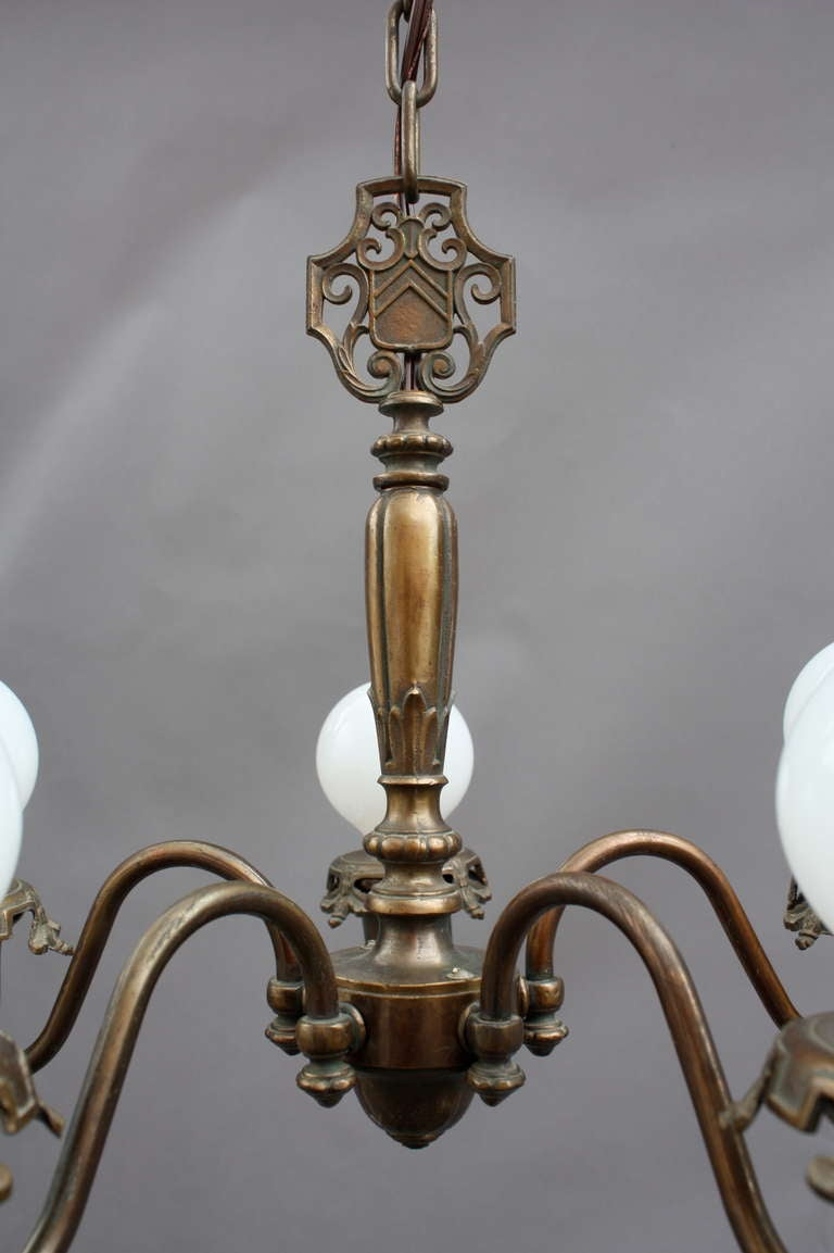 Antique simple spanish revival chandelier at 1stdibs for Spanish revival lighting