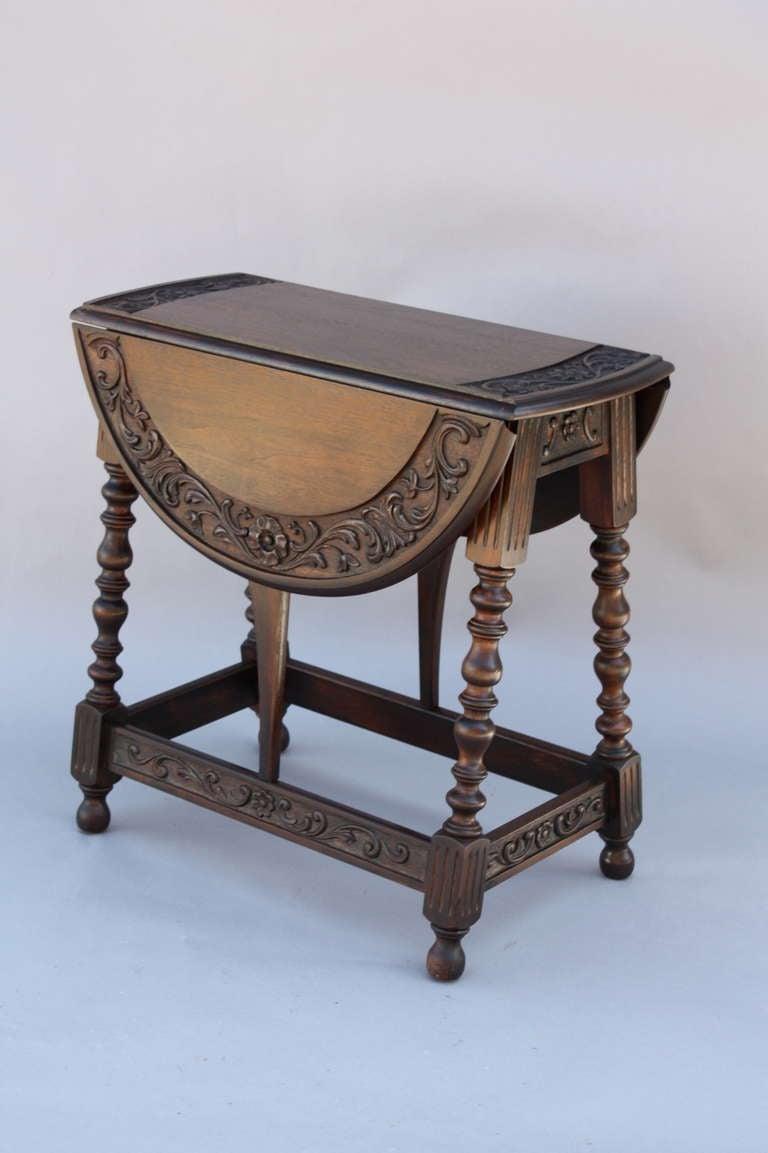 Spanish Revival Gate leg Table at 1stdibs