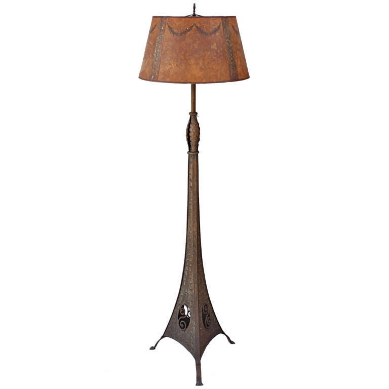 Fantastic 1920 39 s floor lamp with beautiful base and iron for 1920 floor lamp