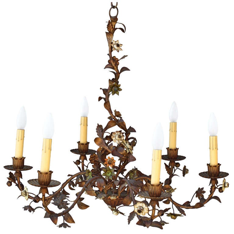Antique Italian Tole Chandelier at 1stdibs