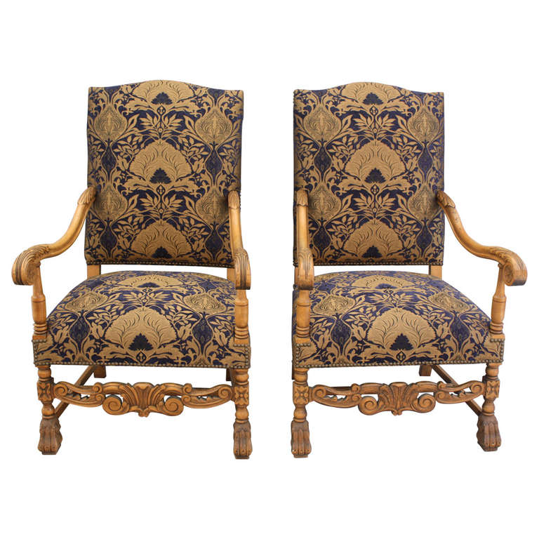 1920 s Classic Pair of Spanish Revival Armchairs at 1stdibs