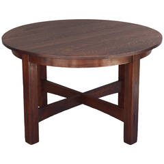 1 of 3 L & JG Stickley Fixed-Top Table