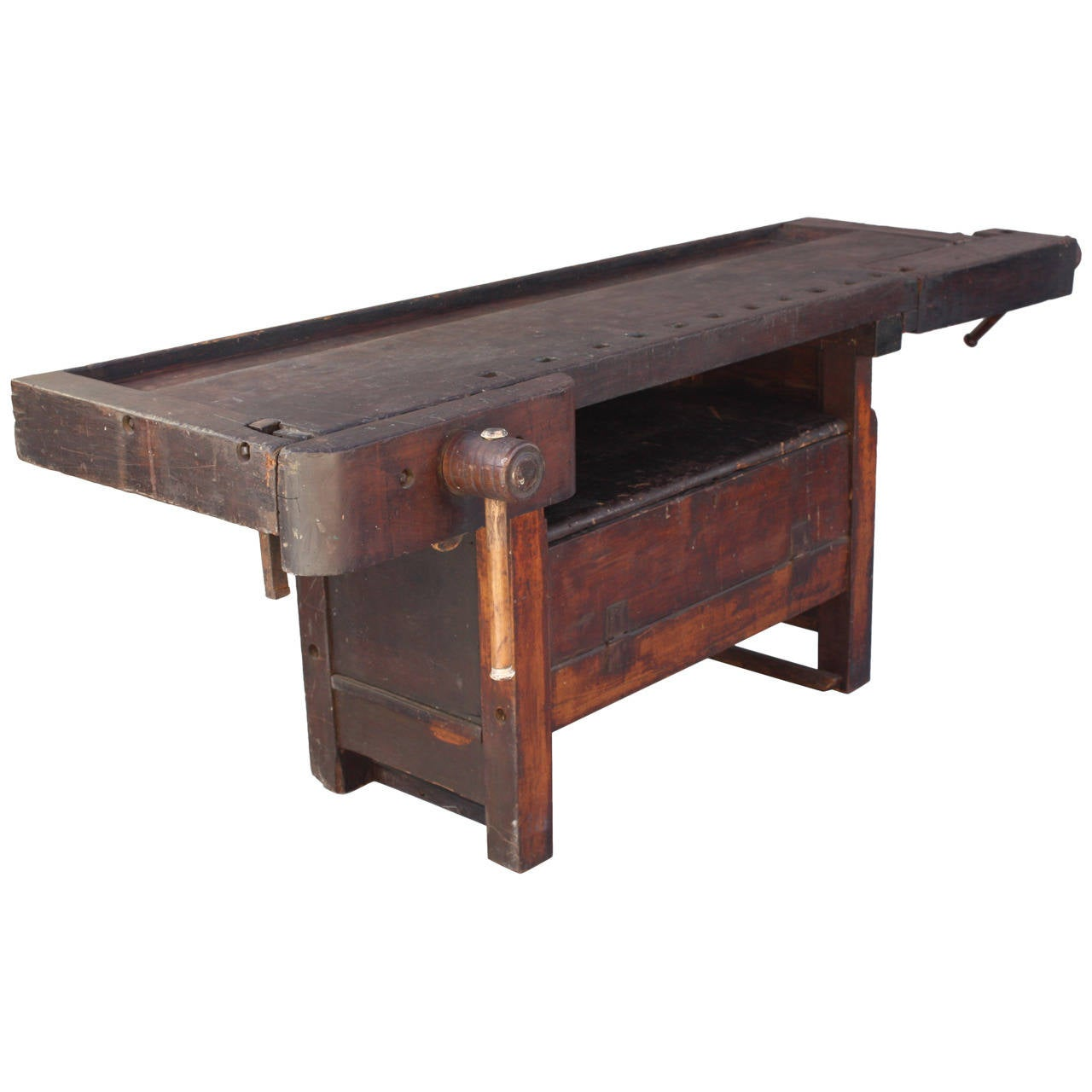 Fantastic Industrial Rustic Turn Of The Century Work Bench At 1stdibs